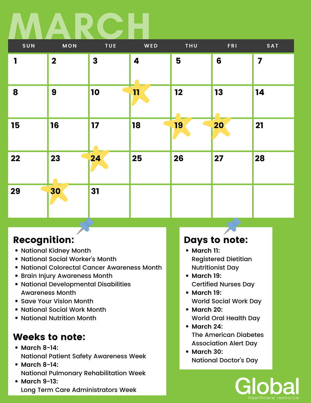 Healthcare Awareness Calendar_March